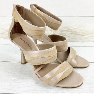 Donal Pliner Neav Leather Sandal Heel Open Toe 9